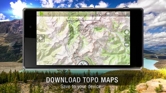Capture d'écran BackCountry Navigator DEMO