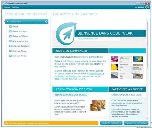 Capture d'écran CoolTweak