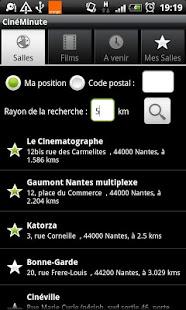 Capture d'écran CinéMinute