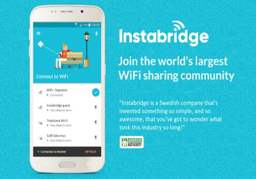 Capture d'écran Wifi Instabridge Android