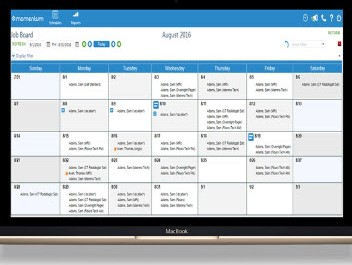 Capture d'écran GXD5 Ressource Planning (Momentum)