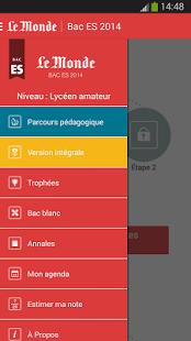 Capture d'écran Bac ES 2014 – Le Monde