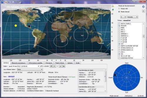 Capture d'écran PreviSat