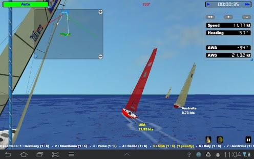 Capture d'écran CWind – Simulateur de Voile
