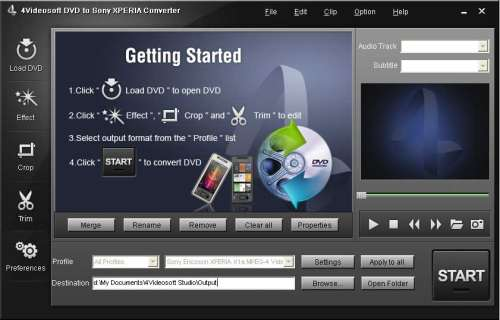 Capture d'écran 4Videosoft Convertisseur DVD en Sony XPERIA