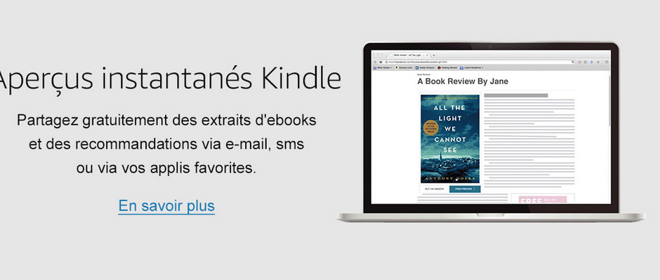 Capture d'écran Kindle Mac