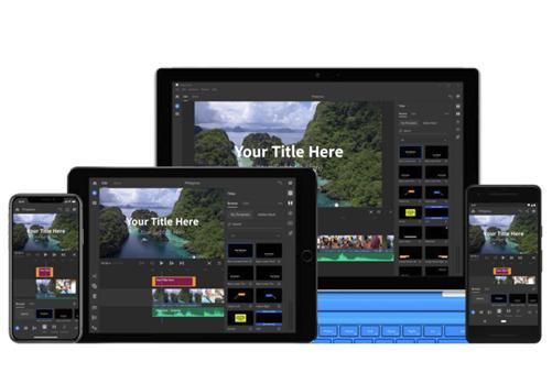 Capture d'écran Adobe Project Rush