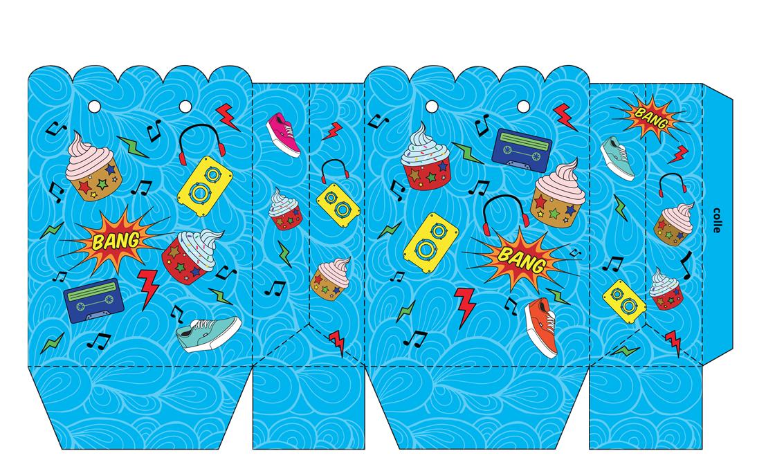Capture d'écran Pochette pour carte cadeau bleue à imprimer