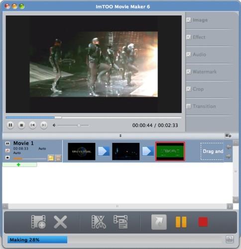 Capture d'écran ImTOO Movie Maker pour Mac