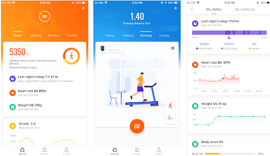 Capture d'écran Mi Fit Android