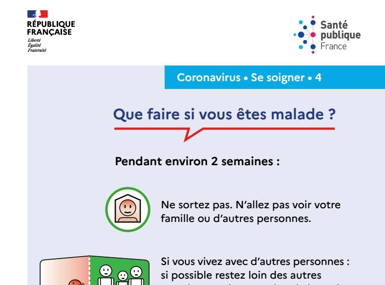 Capture d'écran Affiche prévention Coronavirus – Que faire si on est malade ?