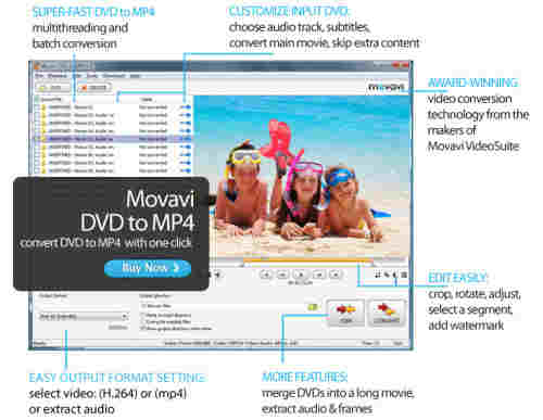 Capture d'écran Movavi DVD to MP4
