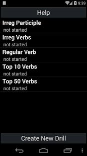 Capture d'écran Formateur Verbe Anglais