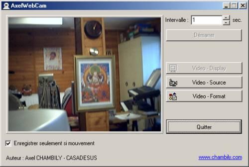 Capture d'écran AxelWebCam