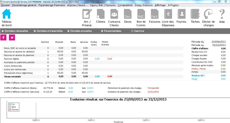 Capture d'écran Instant-Gestion AE 2020