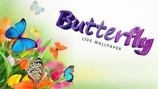 Capture d'écran Papillon Fond Animé
