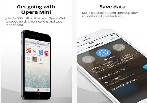 Capture d'écran Opera Mini iOS