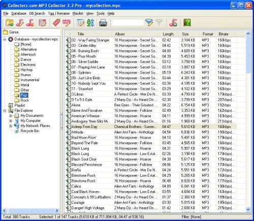 Capture d'écran Collectorz.com MP3 Collector
