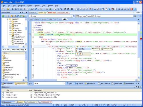 Capture d'écran HippoEDIT