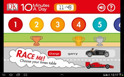 Capture d'écran 10 Minutes a Day Times Tables