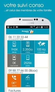 Capture d'écran Espace Client Mobile