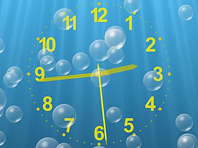 Capture d'écran Underwater Clock Bubbles Screensaver