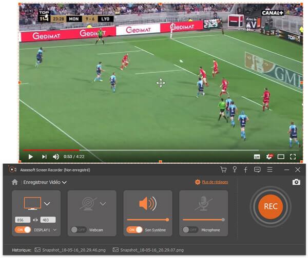 Capture d'écran Aiseesoft Screen Recorder