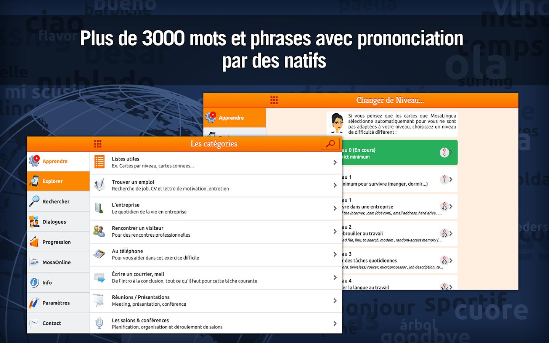Capture d'écran MosaLingua anglais Business Android