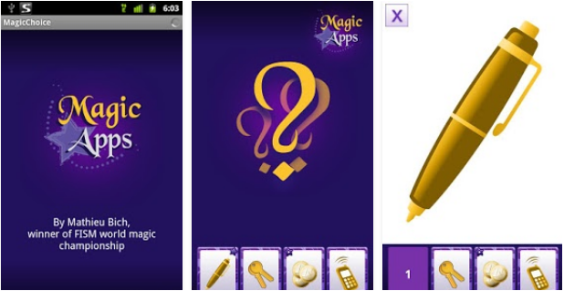 Capture d'écran MagicChoice Android