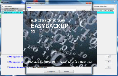 Capture d'écran EasyBackup Mac