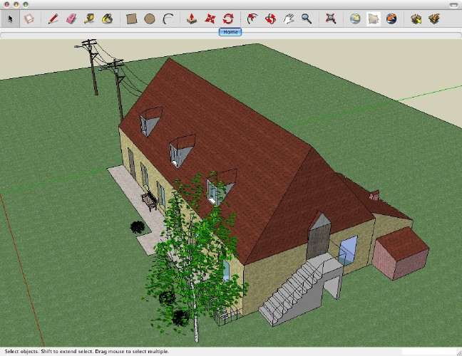 Capture d'écran Sketchup Make Mac