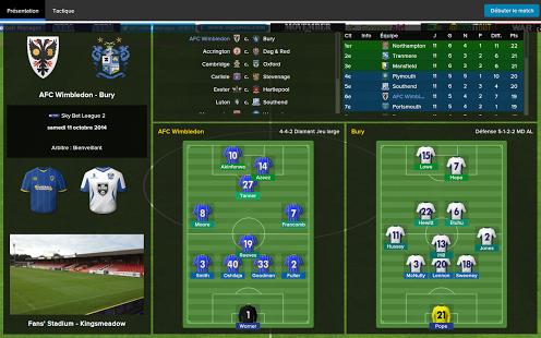 Capture d'écran Football Manager Classic 2015 Android