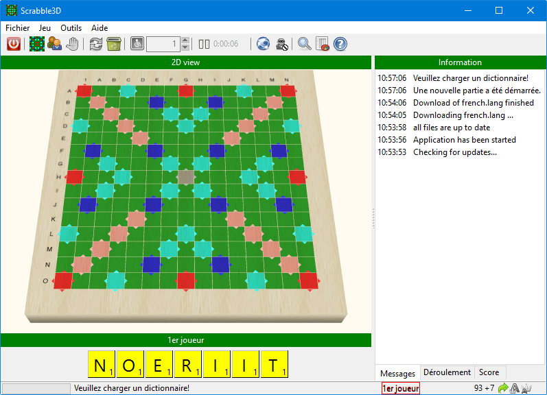 Capture d'écran Scrabble 3D