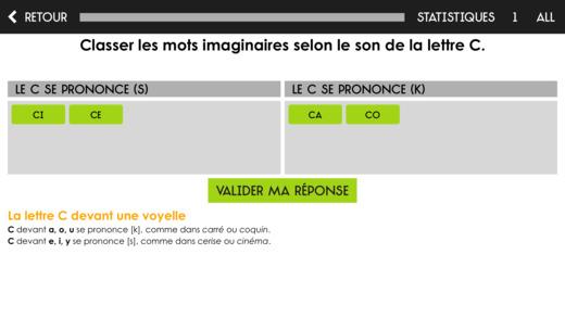 Capture d'écran Orthographe Projet Voltaire iOS