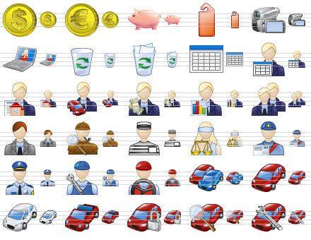 Capture d'écran Standard Business Icons