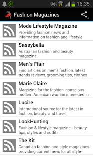 Capture d'écran Fashion Magazines