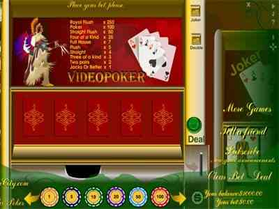 Capture d'écran MyPlayCity Video Poker