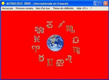 Capture d'écran Astrologie 3000
