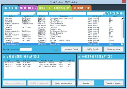 Capture d'écran Stock-Pratique (gestion de stock)