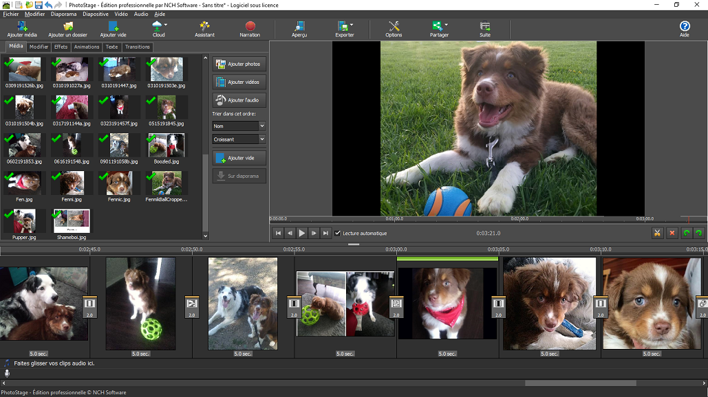 Capture d'écran PhotoStage – Logiciel de diaporamas photo gratuit