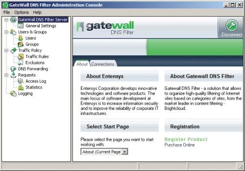 Capture d'écran GateWall DNS Filter