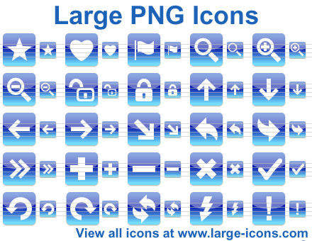 Capture d'écran Large PNG Icons