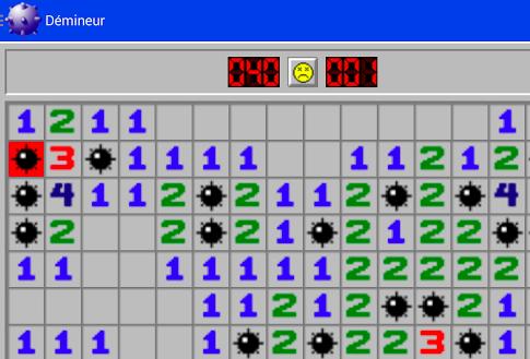 Capture d'écran Démineur