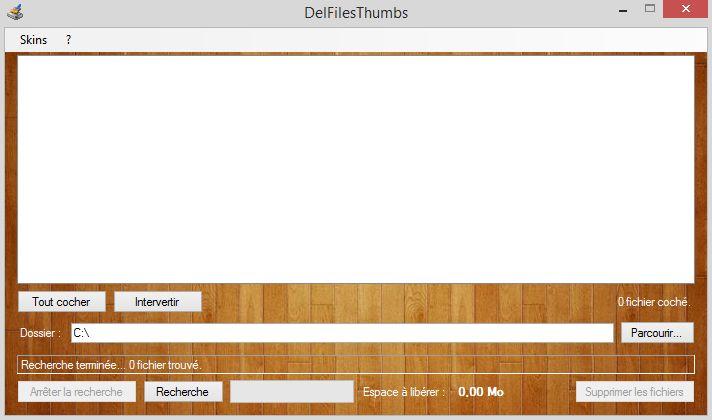Capture d'écran DelFilesThumbs
