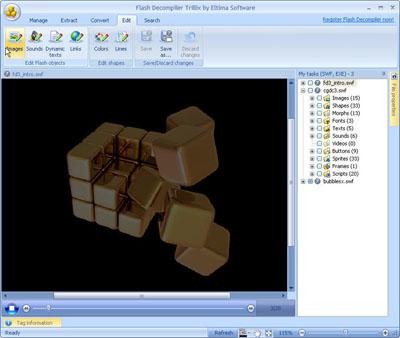 Capture d'écran SWF Decompiler Trillix