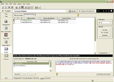 Capture d'écran WebToolManager