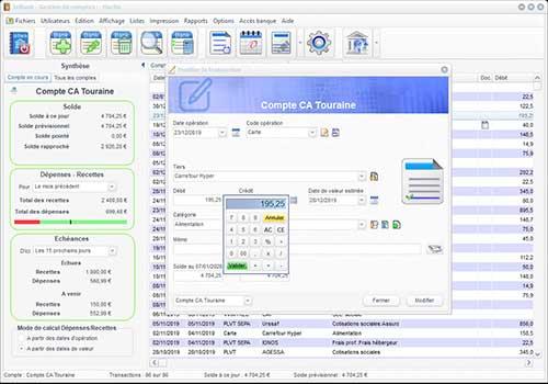 Capture d'écran IziBank 2.11 – 2020