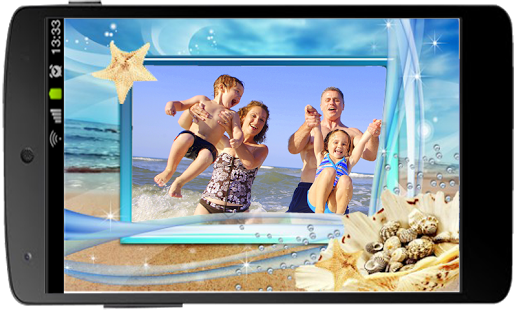 Capture d'écran Summer Beach Photo Frame