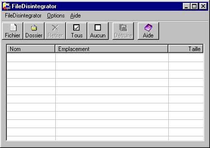 Capture d'écran FileDisintagrator