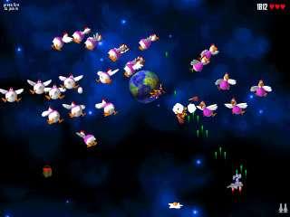 Capture d'écran Chicken Invaders